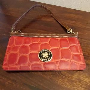 Dooney & Bourke red/brown mini purse